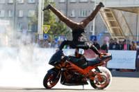 Соревнования по трюкам на мотоцикле «Streetbike Freestyle Kurland Stunt»