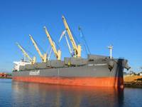 Самое большое судно со щепой отправляется в Турцию