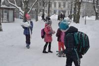 Мороз школьников не пугает