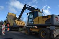 На участке клайпедского шоссе констатирован брак ремонтных работ
