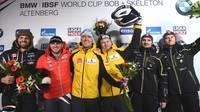 Оскар Киберманис и Матис Микнис завоевали бронзовую медаль на трассе в Альтенберге