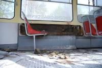 Пассажиры подожгли трамвай