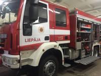 В Айзпуте во время пожара в жилом доме пострадал человек
