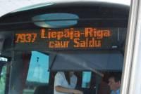 C 18 января на неопределенное время отменены два рейса маршрута Рига-Лиепая