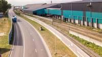 Открыли построенный участок подъездной дороги в Лиепайском порту
