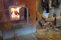 Загорелись оставленные у печи дрова