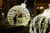 Лиепайские новогодние украшения дарят радость взрослым и детям