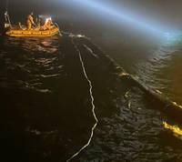 На рейде Лиепайского порта нашли пропавшую трубу с терминала Бутинге