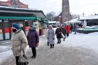 В час пик в павильон Центрального рынка можно попасть в течение 15 минут