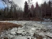 На реке Барта весь лед еще не сошел