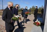 Почтили память сбитых летчиков США