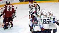 Сборная Латвии на ЧМ-2021 по хоккею уступила США