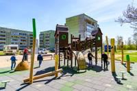 В Зеленой роще открыта новая детская игровая площадка