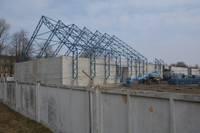 В Военном городке строится новый склад предприятия BTC